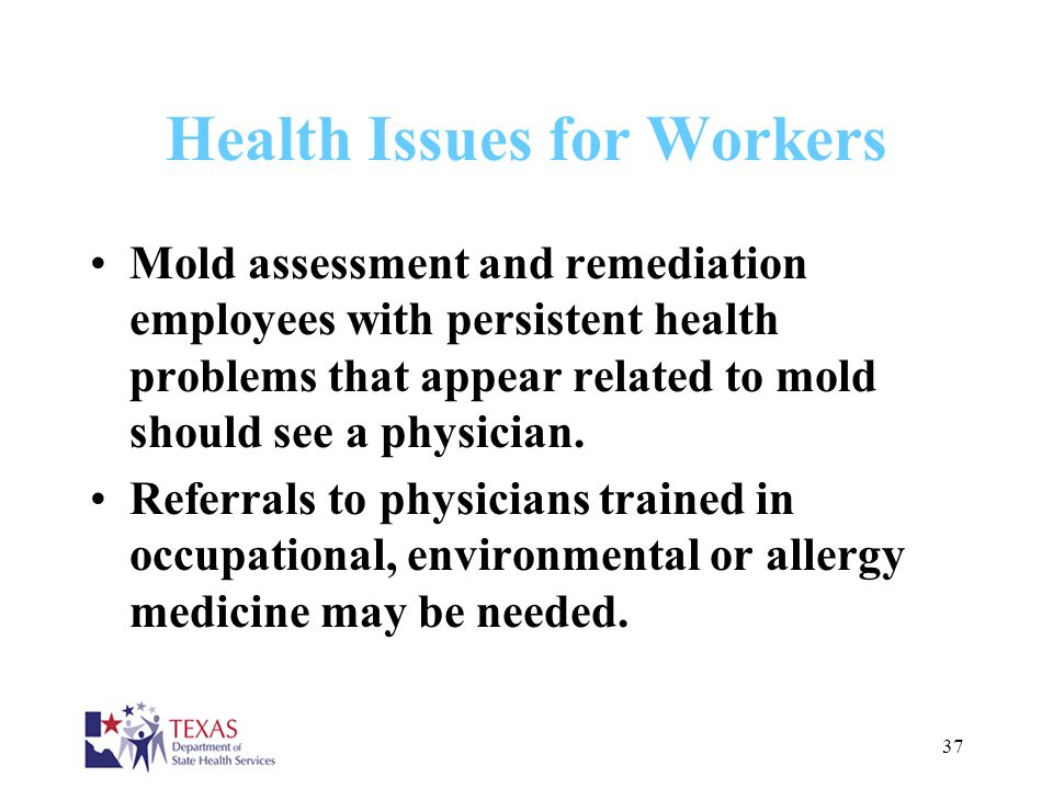 Health Issues for Workers