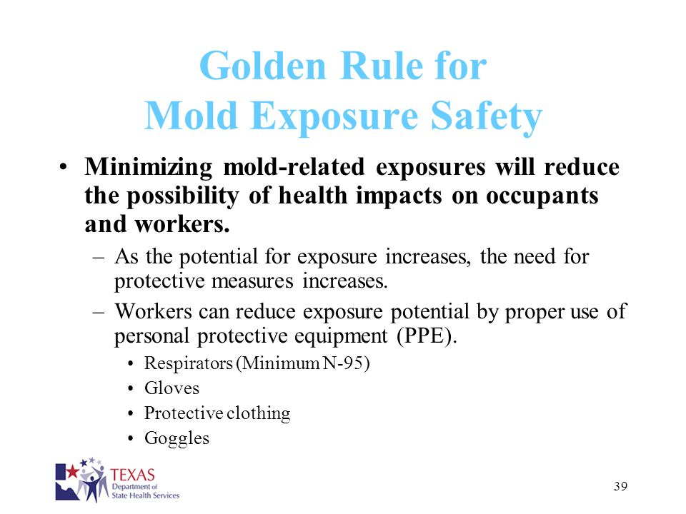 Golden Rule for Mold Exposure Safety