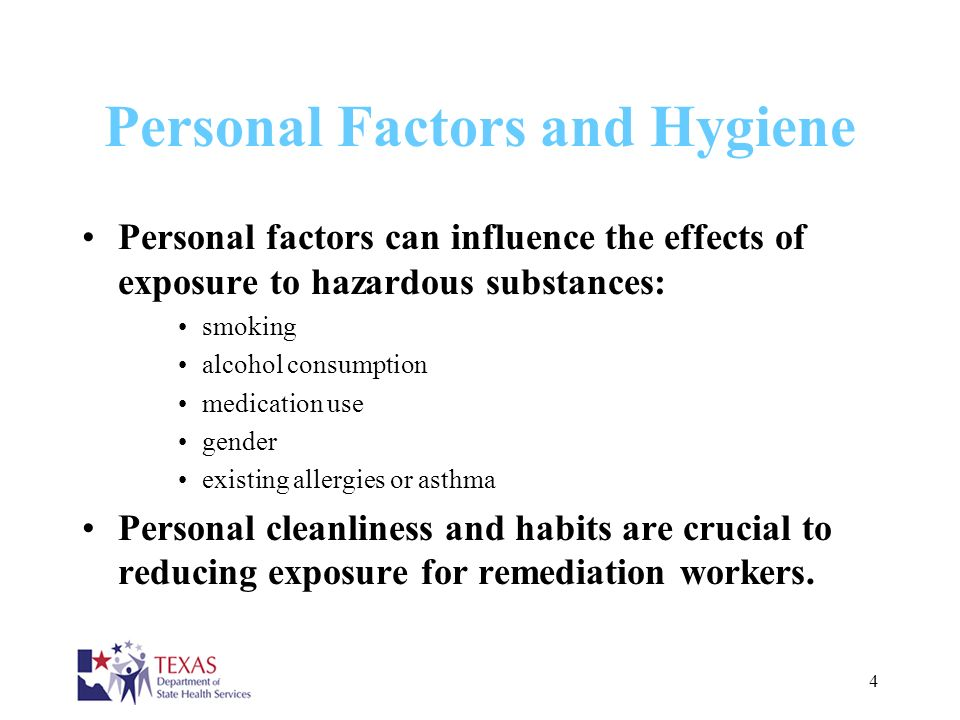 Personal Factors and Hygiene