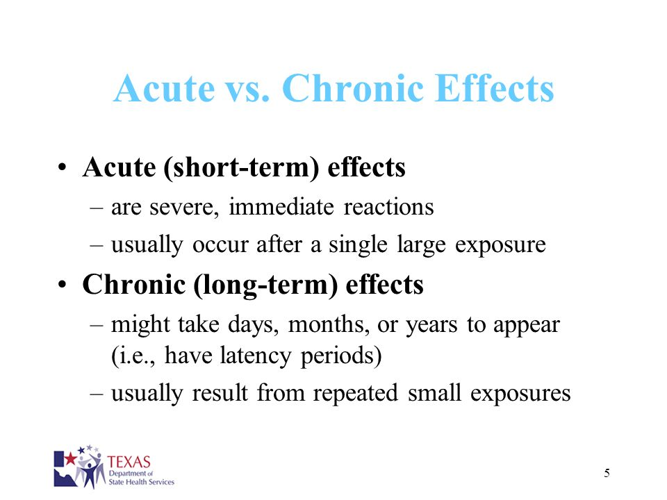 Acute vs. Chronic Effects