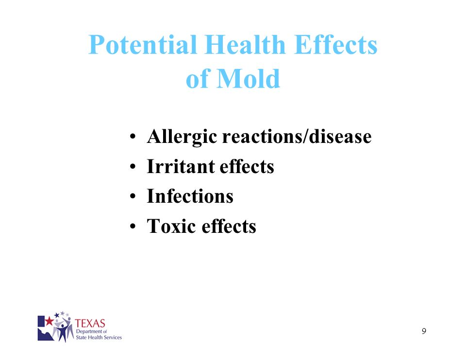 Potential Health Effects of Mold