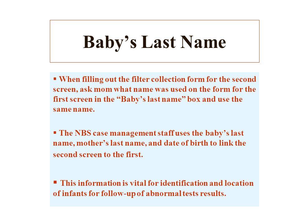 Baby's Last Name