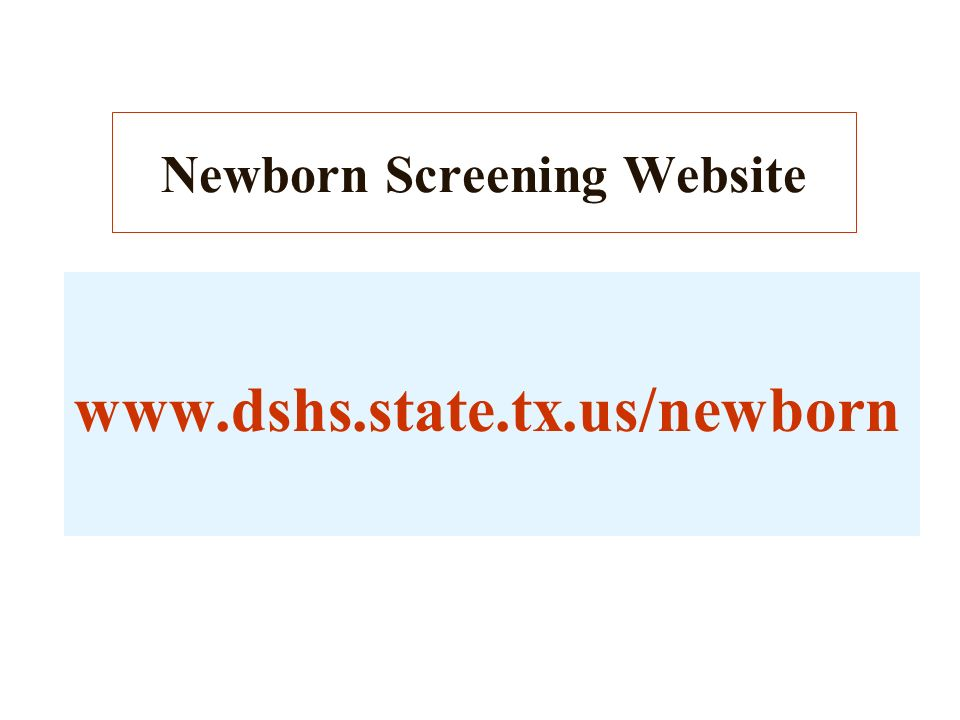 Newborn Screening Website