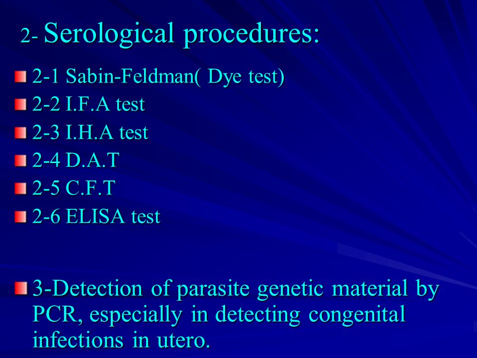 Serological Examination Methods Dental