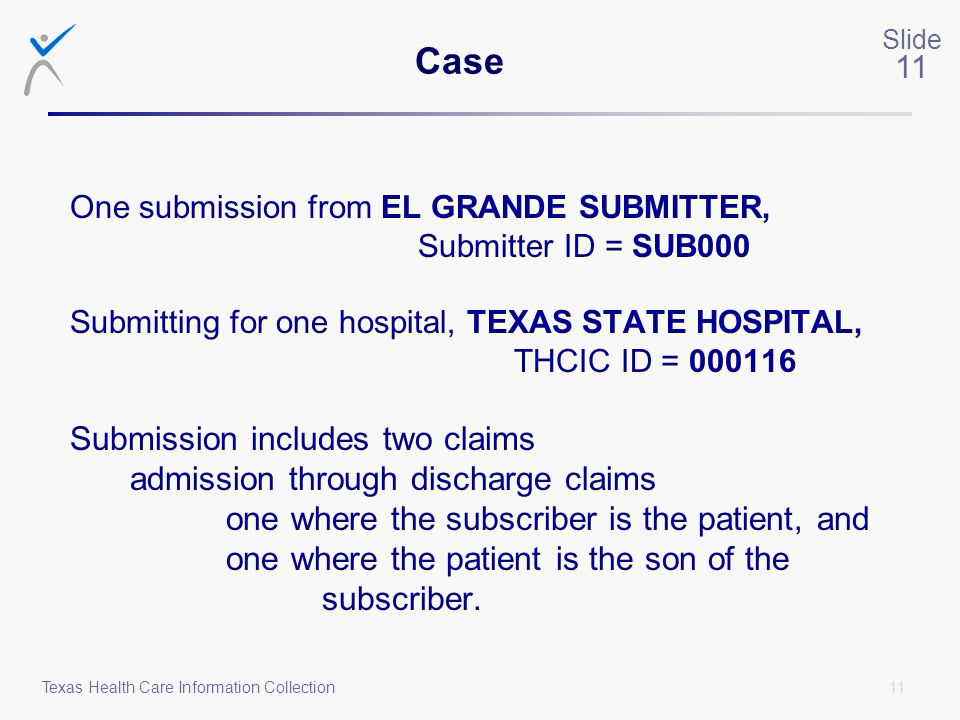 Case admission through discharge claims