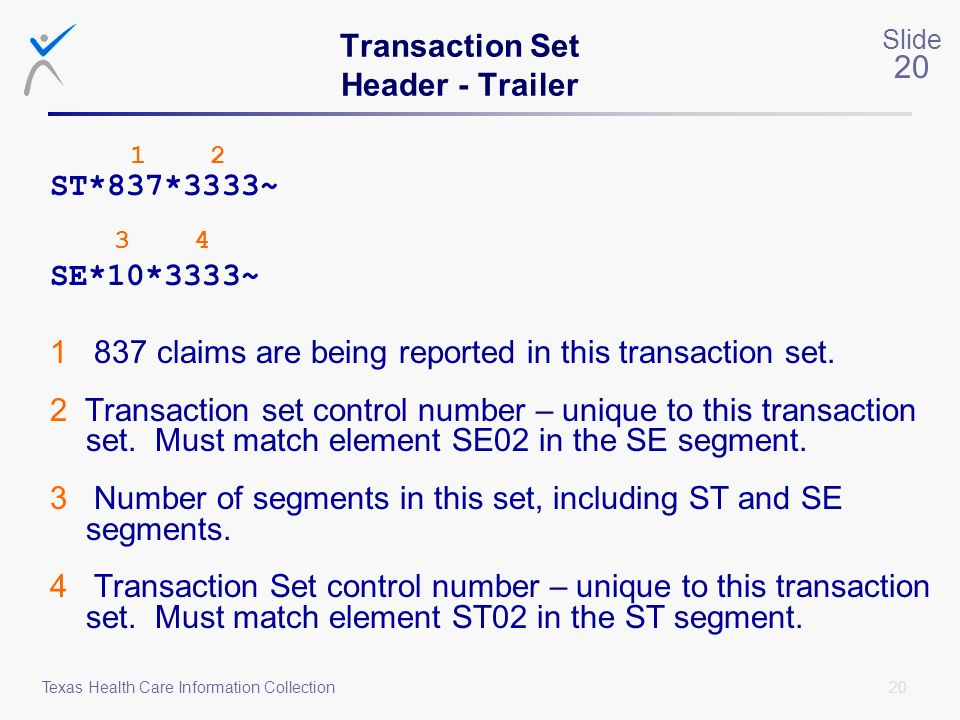 Transaction Set Header - Trailer