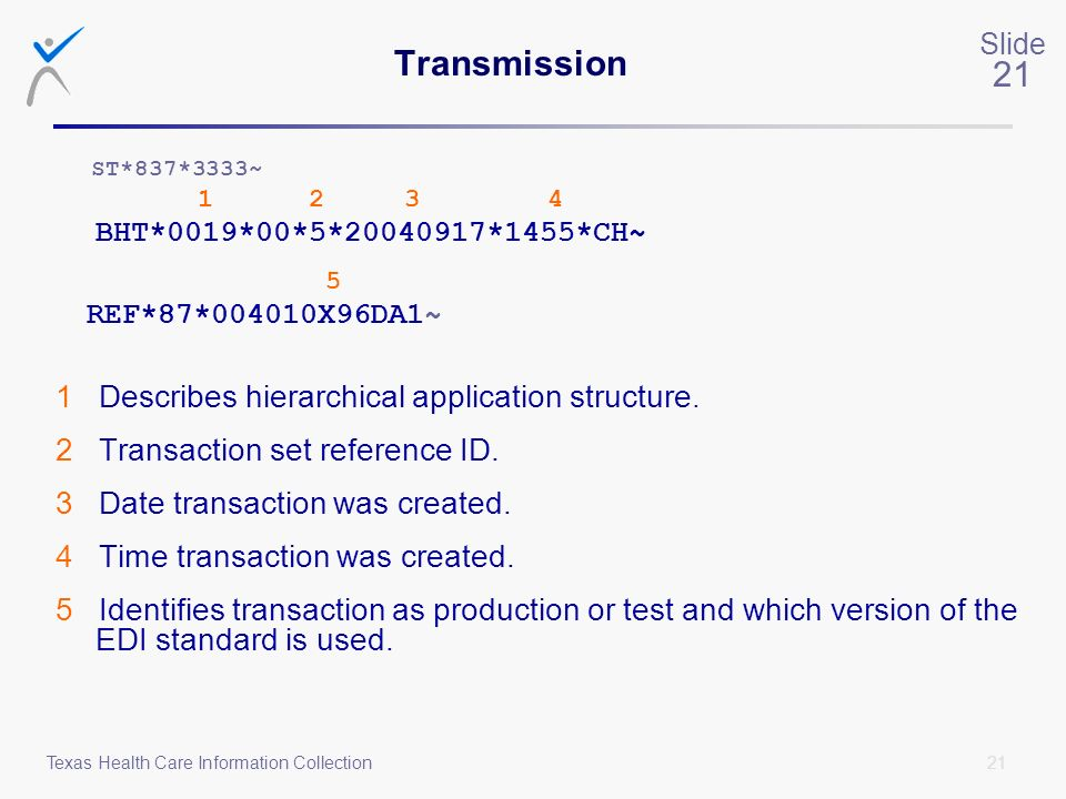 Transmission 1 Describes hierarchical application structure.
