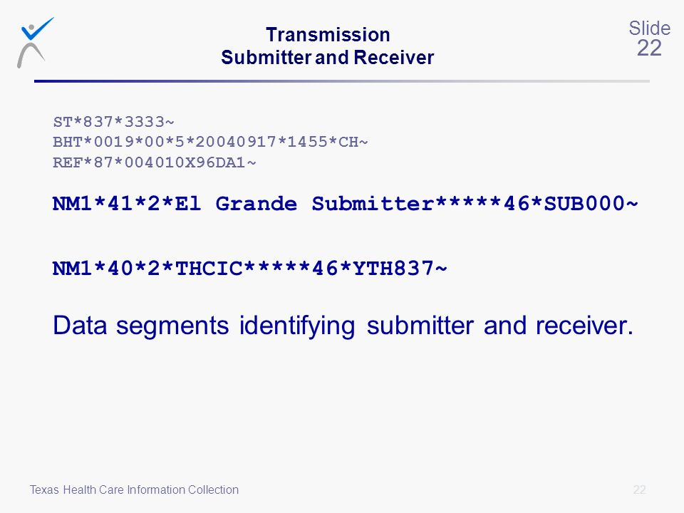 Transmission Submitter and Receiver