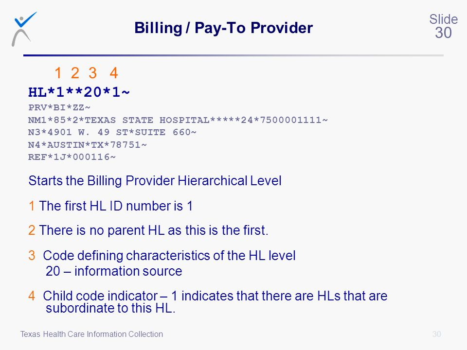 Billing / Pay-To Provider