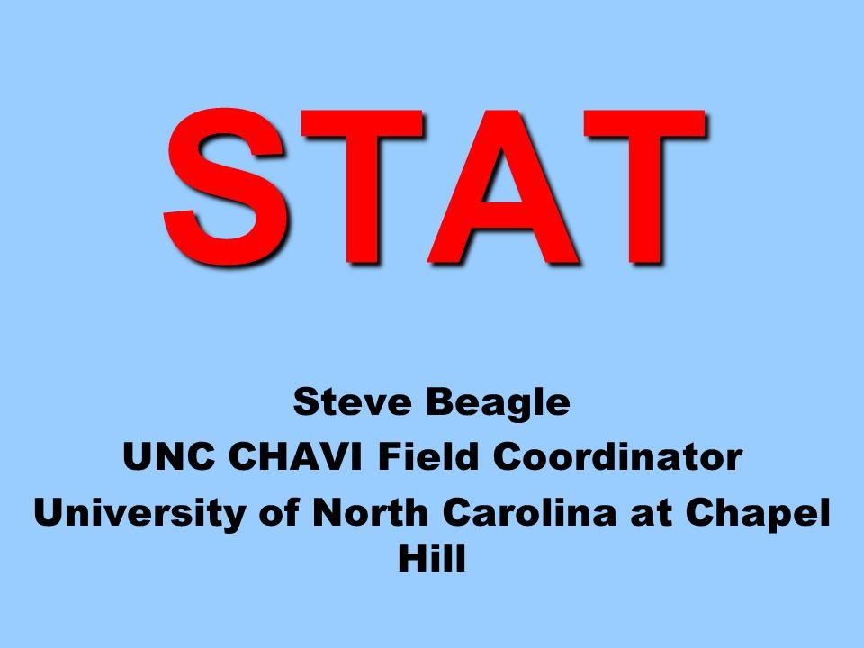 STAT Steve Beagle UNC CHAVI Field Coordinator