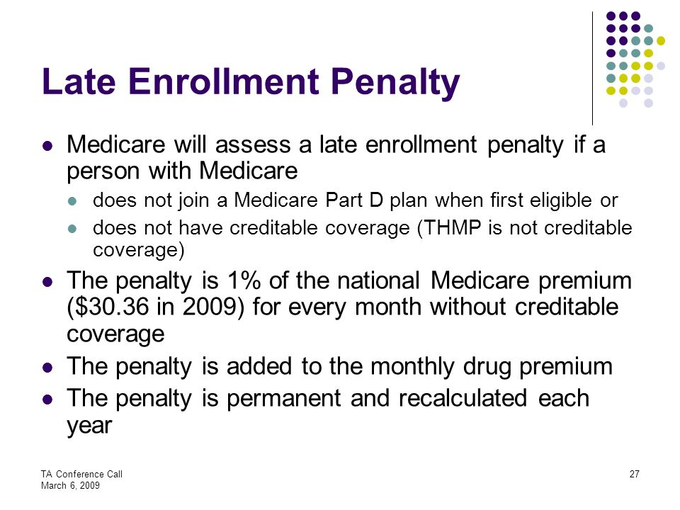 Late Enrollment Penalty
