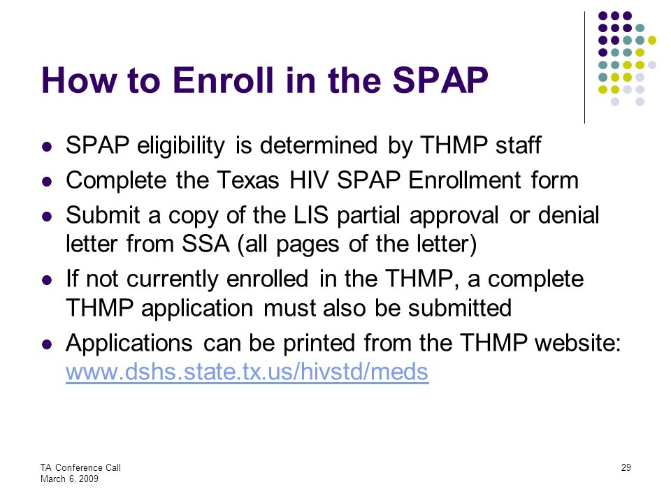 How to Enroll in the SPAP