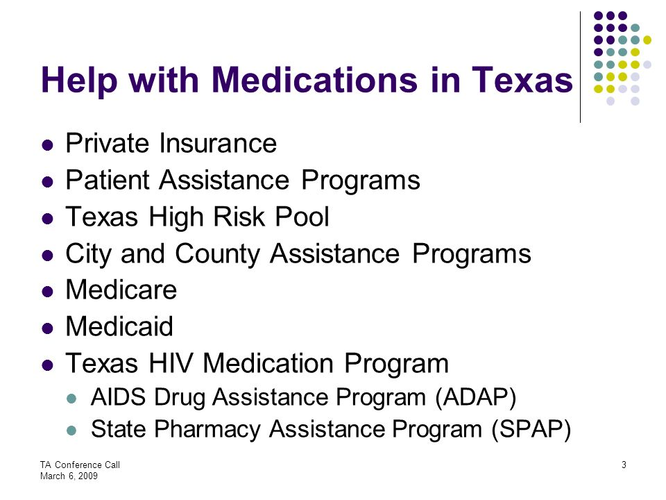 Help with Medications in Texas