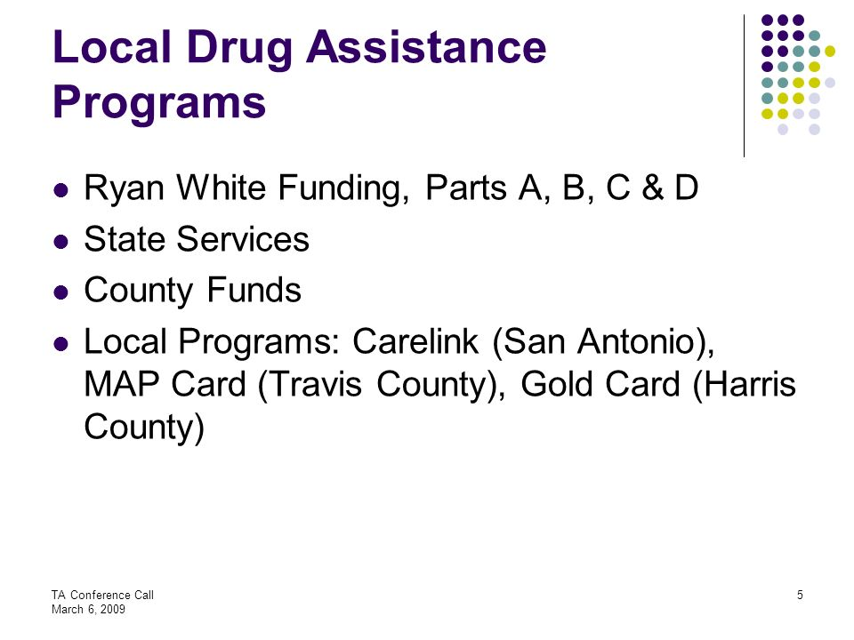 Local Drug Assistance Programs
