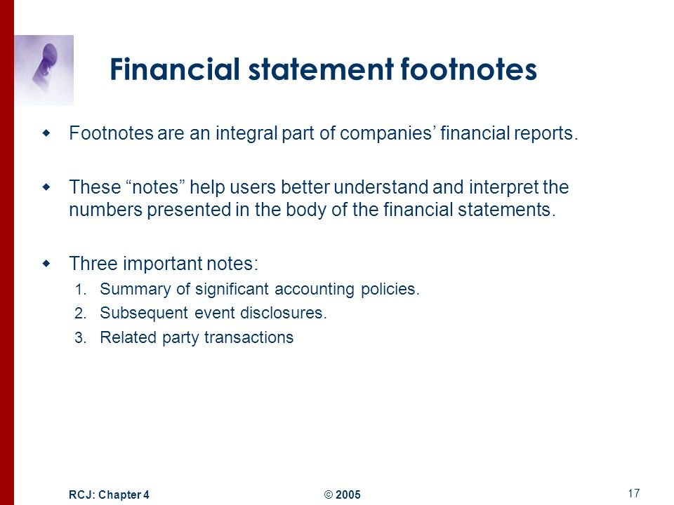 Stock options footnote disclosures