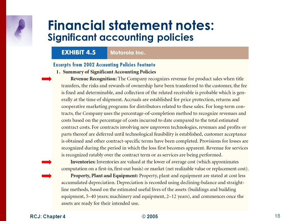 accounting policies and revenue recognition