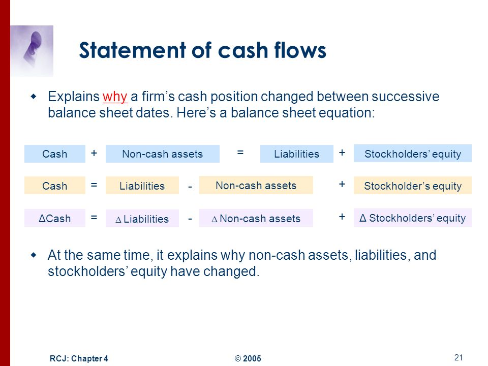 structure of the balance sheet and statement of cash flows