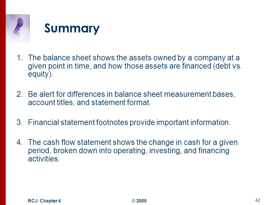 Summary The Balance Sheet Shows The Assets Owned By A Company At A Given  Point In  Balance Sheet Statement Format