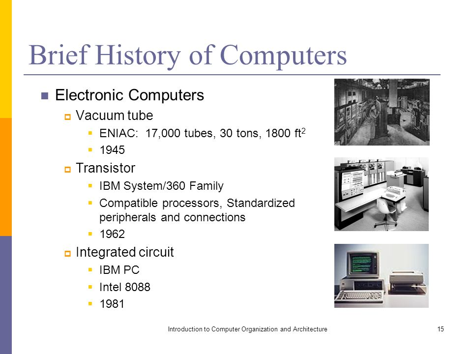a brief history of computers A very brief history of computer science written by jeffrey shallit for cs 134 at the university of waterloo in the summer of 1995  index for history of computers.