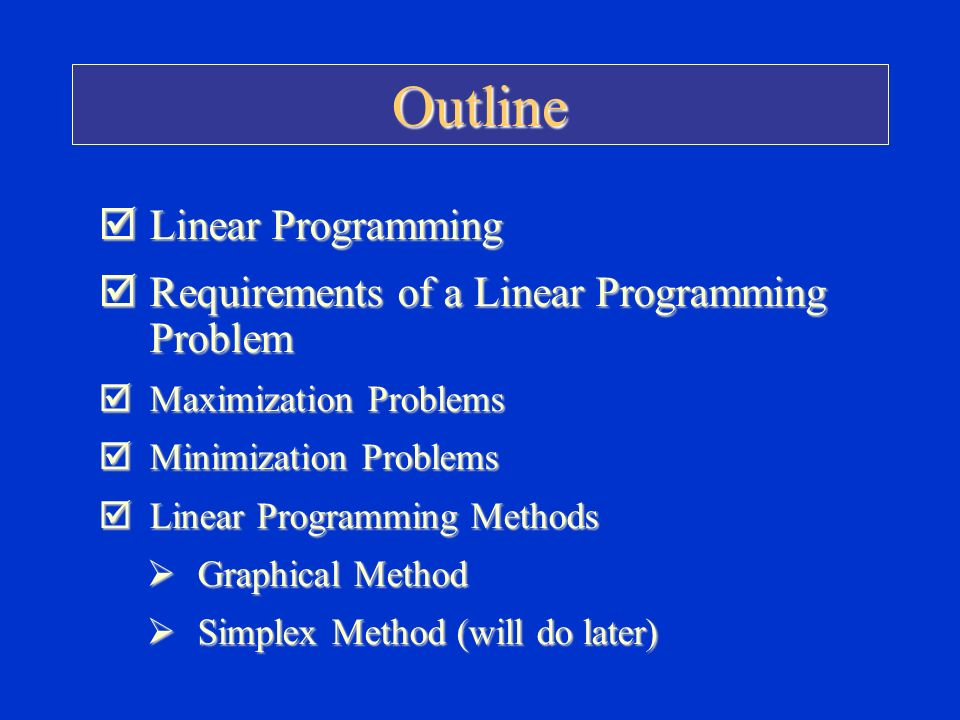 Linear programming simplex method maximization example pdf