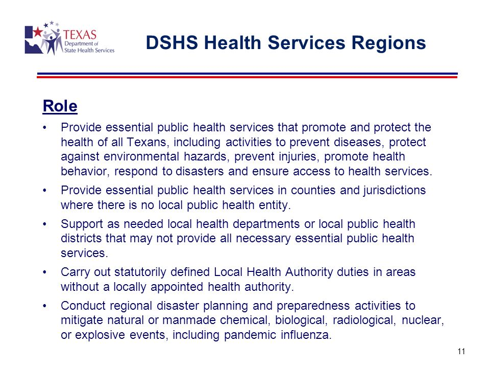 DSHS Health Services Regions