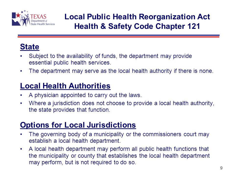 Local Health Authorities