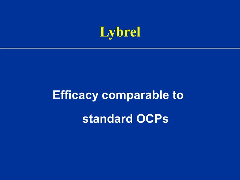 Efficacy comparable to standard OCPs