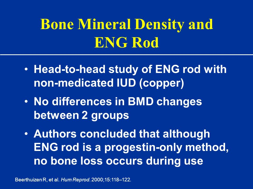 Bone Mineral Density and ENG Rod