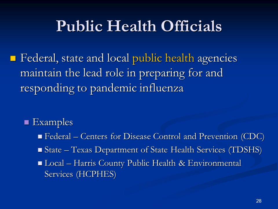 Public Health Officials