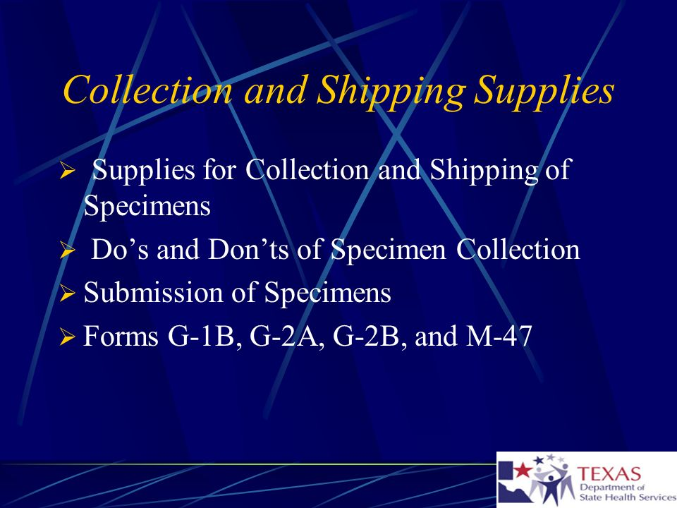Collection and Shipping Supplies