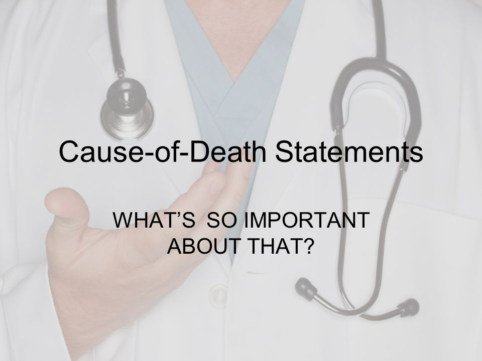 Cause-of-Death Statements