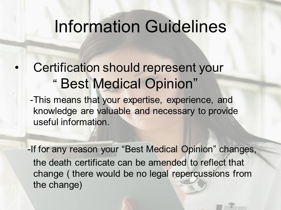 Information Guidelines