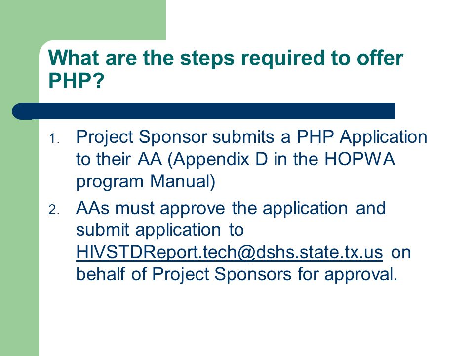 What are the steps required to offer PHP
