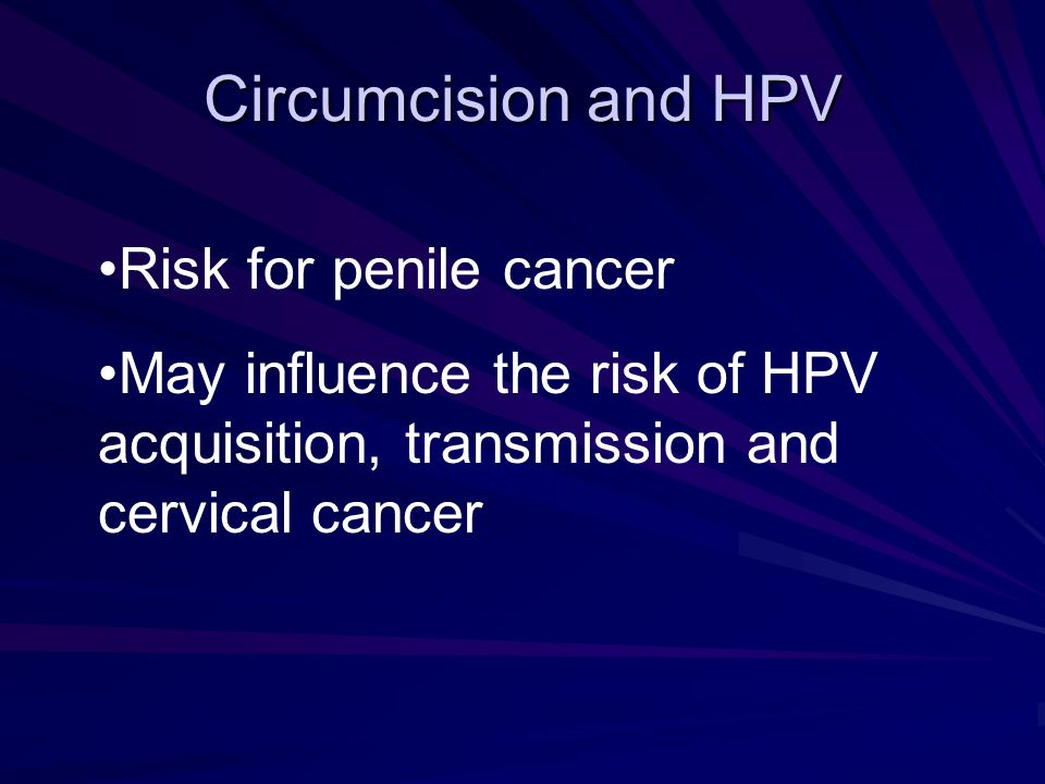Circumcision and HPV Risk for penile cancer