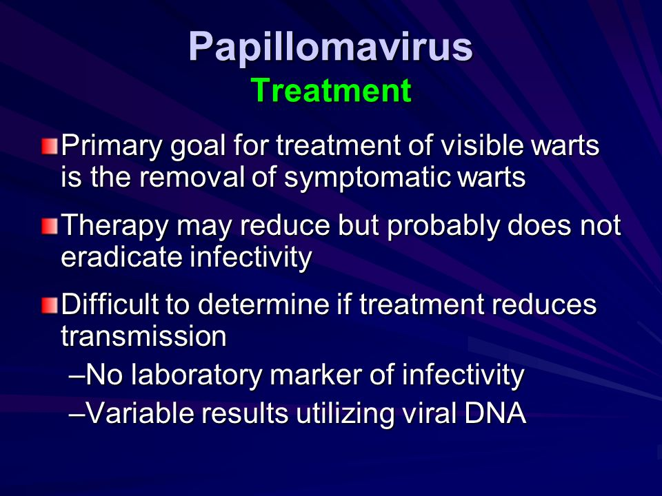 Papillomavirus Treatment