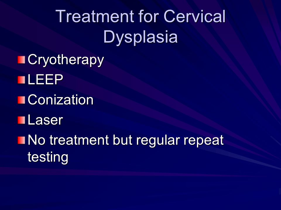 Treatment for Cervical Dysplasia