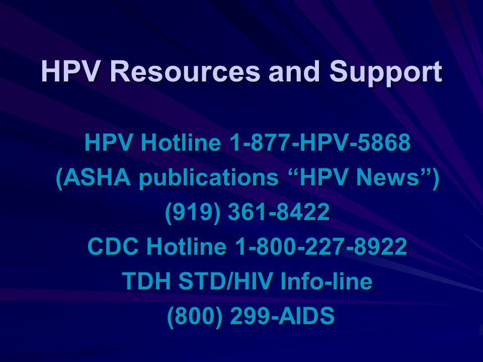 HPV Resources and Support