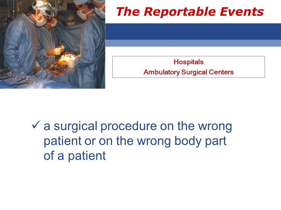 Ambulatory Surgical Centers