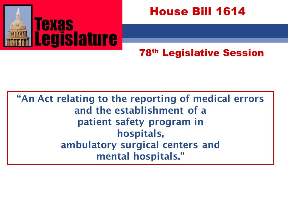 House Bill 1614 78th Legislative Session