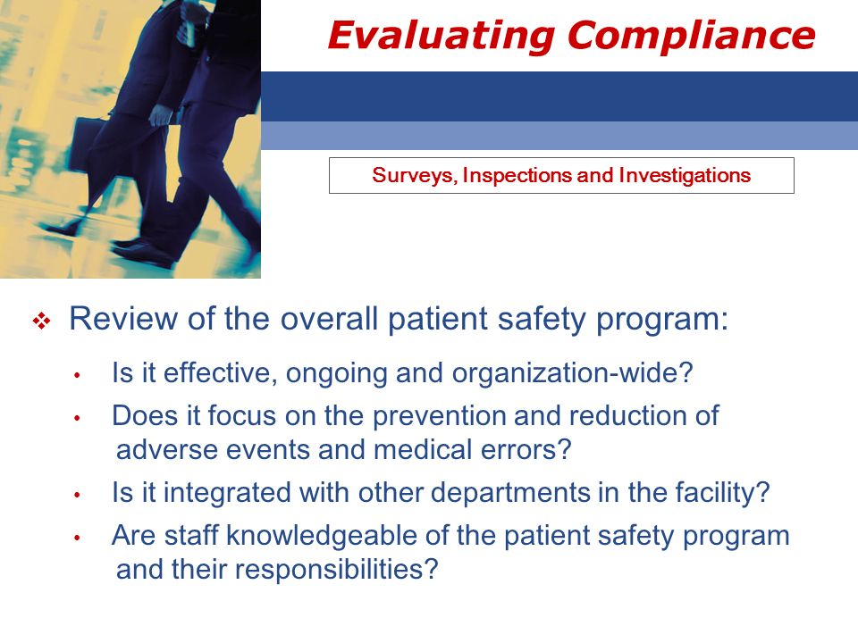 Evaluating Compliance