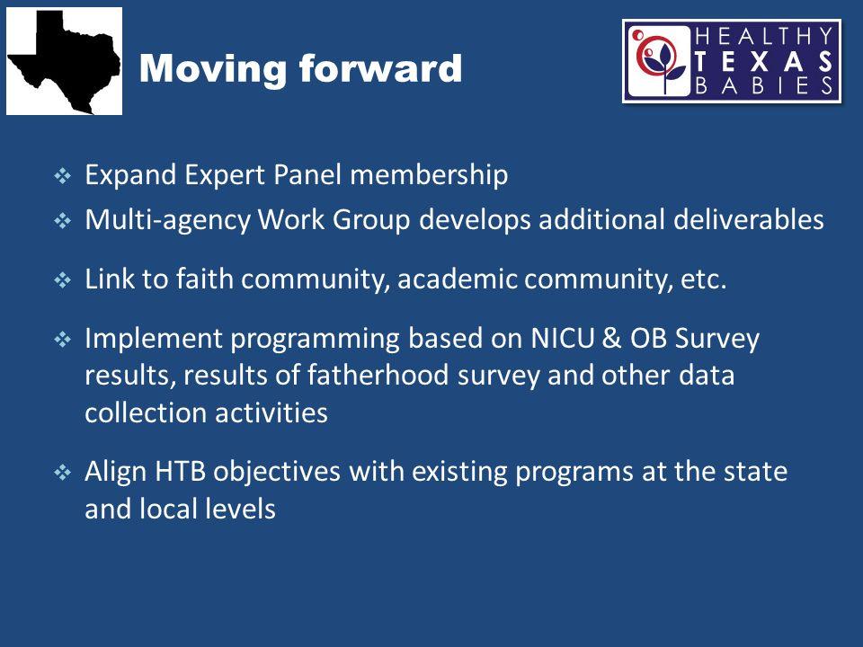 Moving forward Expand Expert Panel membership