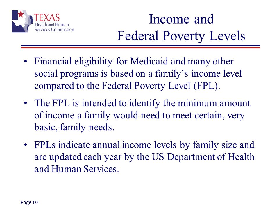 Income and Federal Poverty Levels