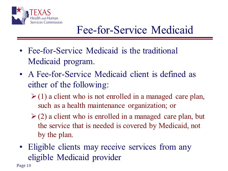 Fee-for-Service Medicaid
