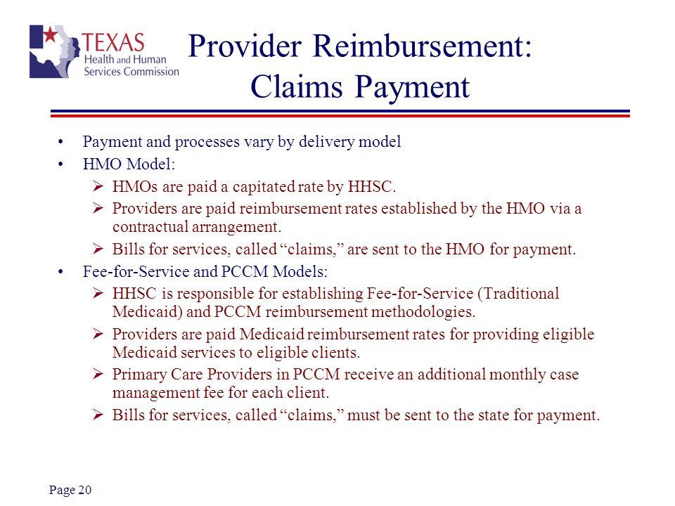 Provider Reimbursement: Claims Payment