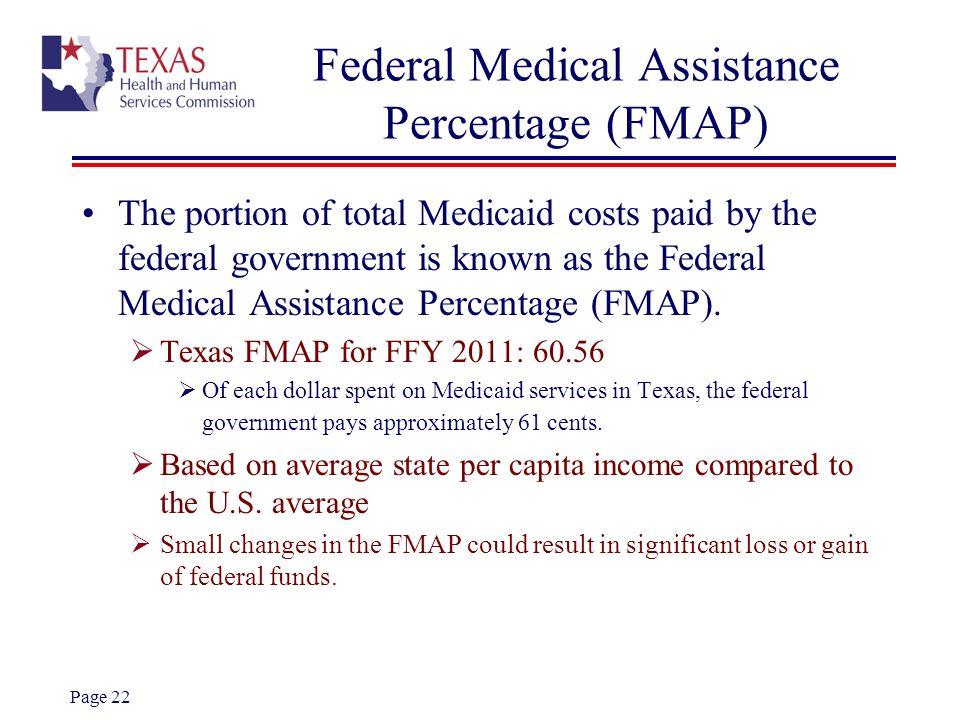 Federal Medical Assistance Percentage (FMAP)