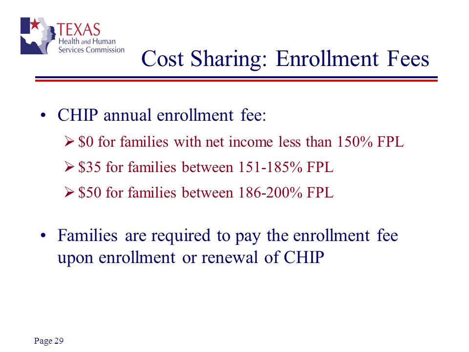 Cost Sharing: Enrollment Fees