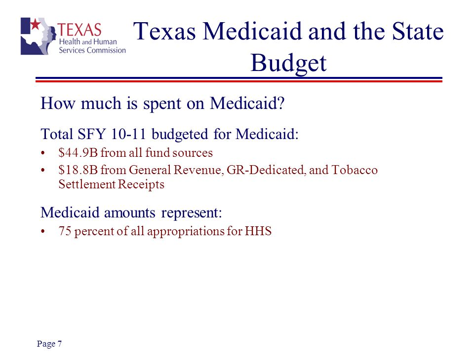 Texas Medicaid and the State Budget