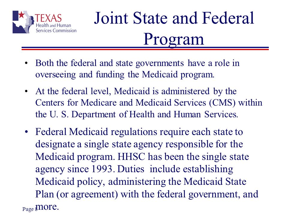 Joint State and Federal Program