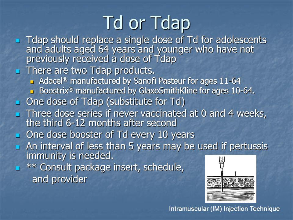 Td or Tdap