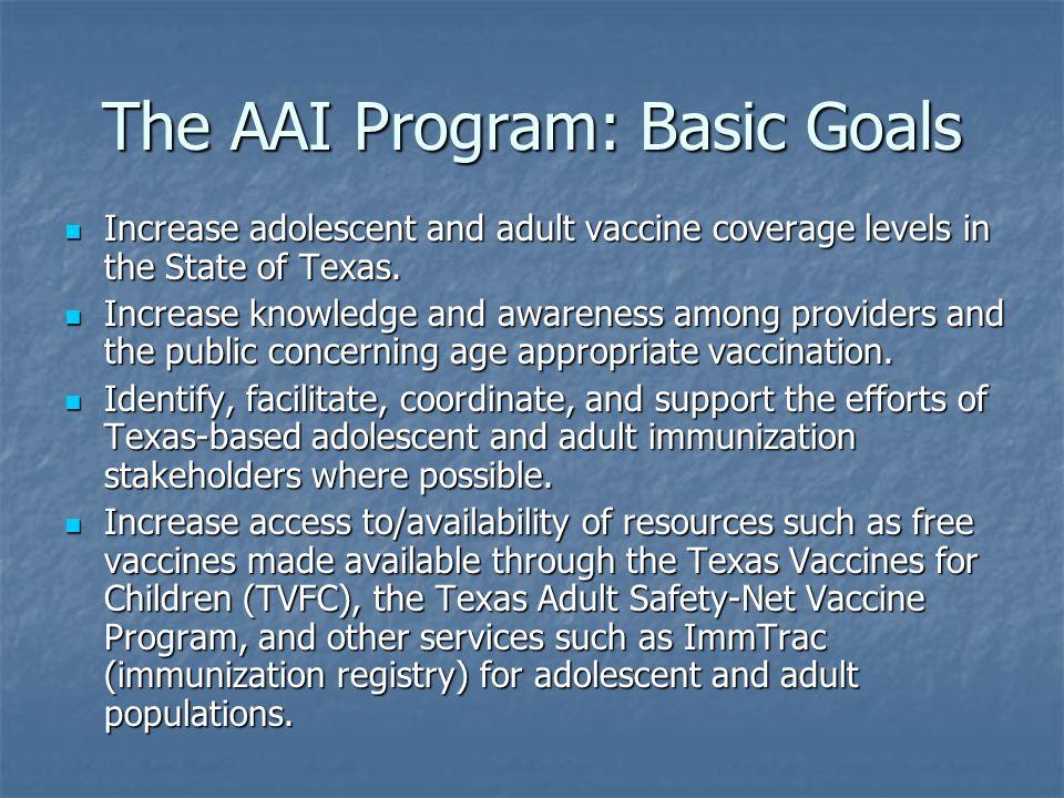 The AAI Program: Basic Goals